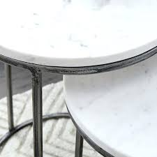 white marble round table cover nesting side tables antique brass