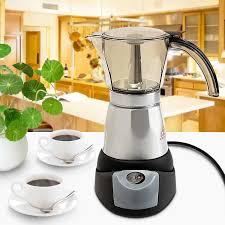 300ml Điện Máy pha Cà Phê Tự Động Mini Cà Phê Bếp Pha Cà Phê Nóng 6 Ly 3  phút ÂU Cắm 220 240V Trà|Coffee Makers
