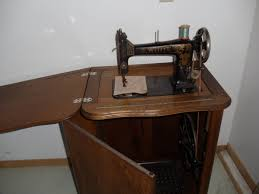 Treadle Sewing Machine Cabinet White Treadle Sewing Machine In Oak Cabinet Collectors Weekly