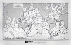 Hubbard Scientific Physiographic Chart Of The Seafloor