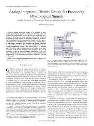 Analog Integrated Circuits For Communication Principles Simulation And Design Pdf Analog Integrated Circuits Design For Processing