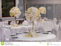 Party Table Decor Wedding Party Table Decorations Stock Photo Image 50824657