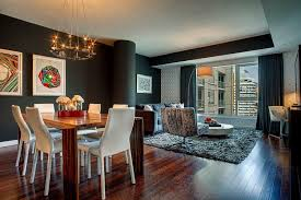 attractive interior design achieved in an elegant and stylish