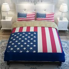 new blue red american flag bedding set twin full queen king size bed linen modern quilt duvet covers bedclothes 4 twin comforter sets king quilt