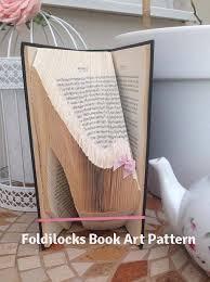high heel sti folded book art pattern book folding book origami