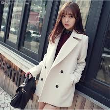 women s short black pea coat double ted saint james