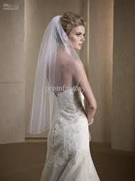 2017 White Ivory One Layer Fingertip Bridal Wedding Veils Cheap