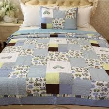 CHAUSUB Kids Patchwork Quilt Set 2pcs Handmade Cotton Quilts Bed ... & CHAUSUB Kids Patchwork Quilt Set 2pcs Handmade Cotton Quilts Bed Sheet Bed  Cover Pillowcase Coverlet Set Adamdwight.com