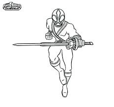 Kleurplaat Power Rangers Samurai