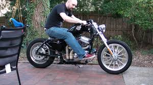 sportster bolt on bobber with sikpipes youtube