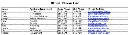 Phone Extension List Template Excel Office Phone List Magdalene Project Org