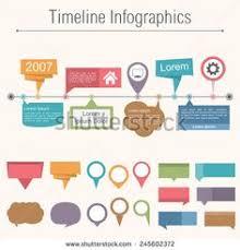 Business Timeline Workflow Infographics. Corporate Milestones ...