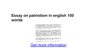 essay on patriotism in english words google docs
