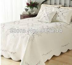 2018 Beige Embroidery Quilts King Size230*250cm Cotton Quilting ... & 2018 Beige Embroidery Quilts King Size230*250cm Cotton Quilting Handmade  Bedspread Cool Summer Waterwash Quilt Sheet Bedcover Set Low Price From ... Adamdwight.com