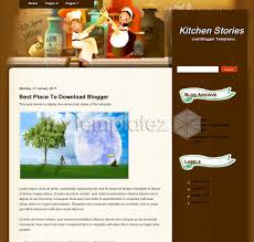 free template blogger. Free Templates Blogger Templates Personal blog Kitchen Stories
