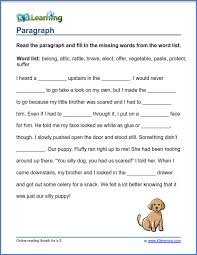 Grade 3 vocabulary worksheet - its or it's   K5 Learning