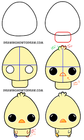 cute easy animal drawings step by step. Delighful Easy Here Are The Steps To Drawing Chibi Baby Chicks To Cute Easy Animal Drawings Step By D
