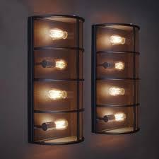 industrial flush mount ceiling lights. Long Industrial Black Iron Network 4 Light Flush Mount . Ceiling Lights