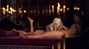 Sweet elf girl riding a hard dick fast till this man cums in her.