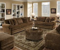Paisley Sofa brown couch beige walls white trim living room redesign 3483 by xevi.us