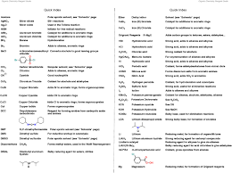 the organic chemistry reagent guide master organic chemistry click here to a pdf of the index