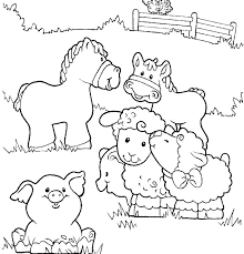 farm scene coloring pages printable farm coloring pages outstanding barnyard animals printable coloring page easy pages