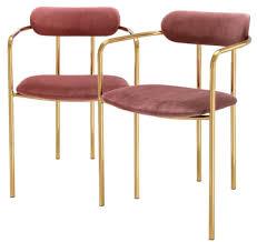 Casa Padrino Luxus Esszimmerstühle Mit Armlehnen Rosa Gold