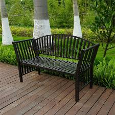classy outdoor seat bench two person cast aluminum luxury durable leisure garden park 9061 3 cushion
