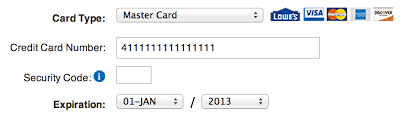 New Credit Card Form Ux Patterns