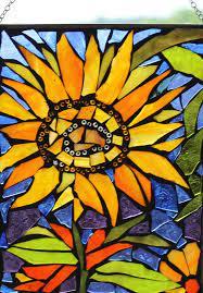 sun flower mosaic wall art panel window