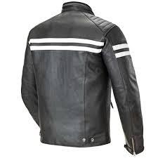 cheep joe rocket classic 92 mens black white leather motorcycle jacket black uk