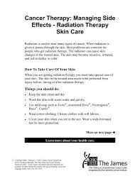 radiation therapy skin care