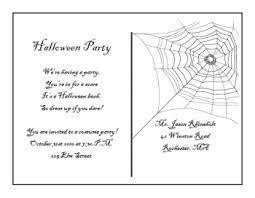 Free Halloween Birthday Invitation Templates Printable Halloween Postcard Invitations