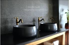 close add to cart 15 round basalt stone vessel sink blackblack granite bathroom sinks