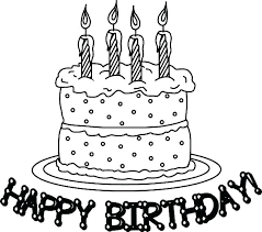 Cake Printable Coloring Pages Birthday Preschool Colouring And