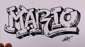 Graffiti Writing Mario Name Design #38 in 50 Names Promotion | MAT - YouTube