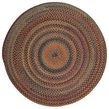 rustica round braided wool rug ru20 fl burst made in usa