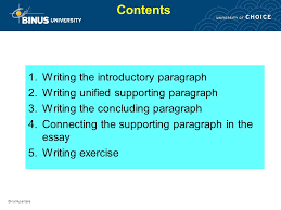 writing paragraph and essay pertemuan ppt video online  contents writing the introductory paragraph