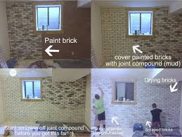 how to make faux brick look real with a white washed effect