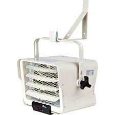 7500 watt 240 volt hardwired garage electric heater wall ceiling mounted with