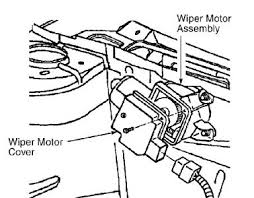 windshield wipers do not work six cylinder front wheel drive push washer switch if washer operates replace wiper motor if washer does not operate go to next step 2 disconnect wiper motor harness connector