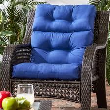 high back chair cushions. cushions bullnose high back outdoor chair cushion patio with