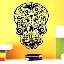sugar skull wall art decal wish sticker punk rock creative personality removable vinyl stickers decals aust sugar skull wall art