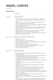 Concrete Finisher Resume samples