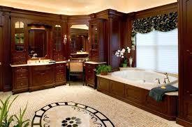 traditional master bathroom designs. Traditional Master Bath Design With Dark Wood Crown Molding Bathroom Designs M