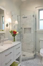bathroom design. Wonderful Design Calming White Marble Small Bathroom Design In E