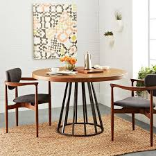 iron art solid wood antique finish circle small dining table rice table fashion creative cafe household