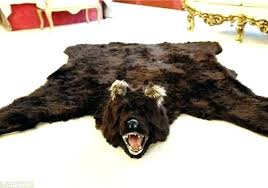 faux black bear rug with head skin fake lion home of taxidermy s