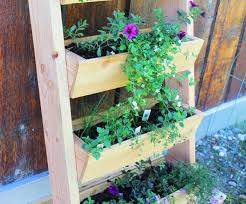 cedar vertical tiered ladder garden