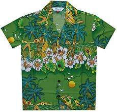 Amazon.com: Hawaiian Shirts Boys Hibiscus <b>Flower Print</b> Beach ...